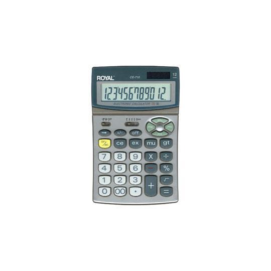 CALCULADORA BASICA ROYAL CE-710 12 DIGITOS