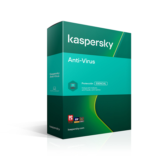 ANTIVIRUS KASPERSKY CON 1 LICENCIA PARA WINDOWS DVD