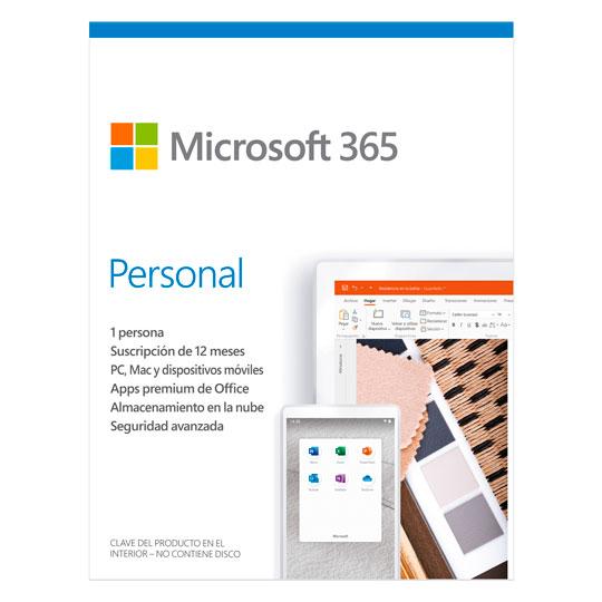 PAQUETERIA MICROSOFT OFFICE 365 PERSONAL CON 1 LICENCIA