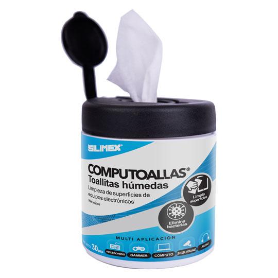 TOALLAS HUMEDAS SILIMEX COMPU TOALLAS PAQUETE DE 30 TOALLAS