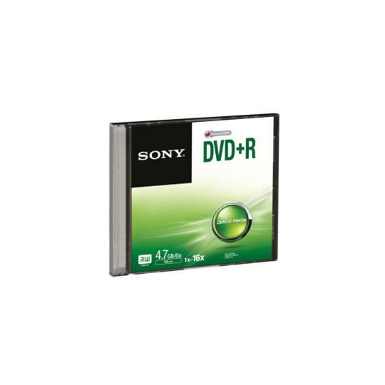 DVD DVD R SONY DPR47SS CAPACIDAD 4.7GB VELOCIDAD DE TRANSFERENCIA 16X INDIVIDUAL
