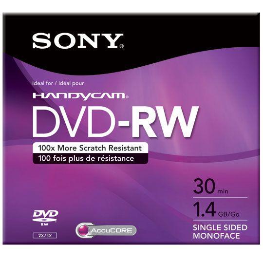 DVD MINI DVD-RW SONY DMW30L2H CAPACIDAD 1.4GB VELOCIDAD DE TRANSFERENCIA 4X INDIVIDUAL