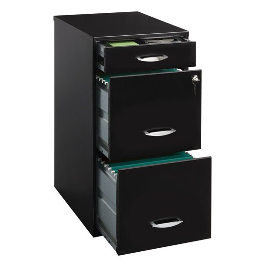 ARCHIVERO VERTICAL DE 3 GAVETAS SPACE SOLUTIONS 20225 COLOR NEGRO
