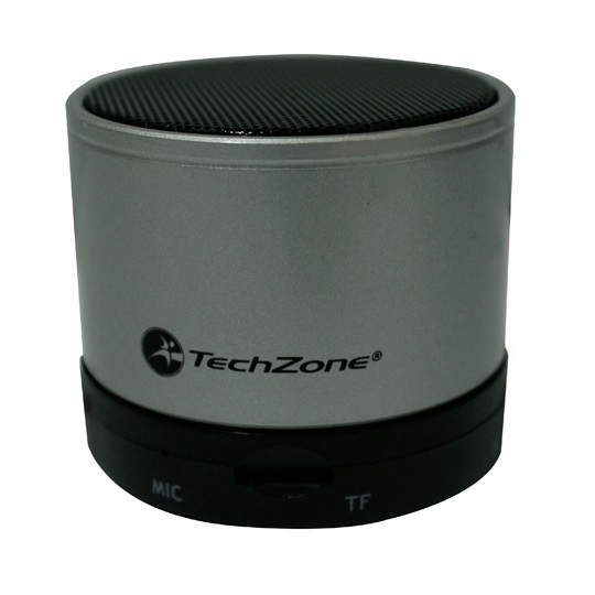BOCINAS MINI INALAMBRICAS TECHZONE TZ15SPBT-GRIS CON CONEXIÓN BLUETOOTH COLOR GRIS