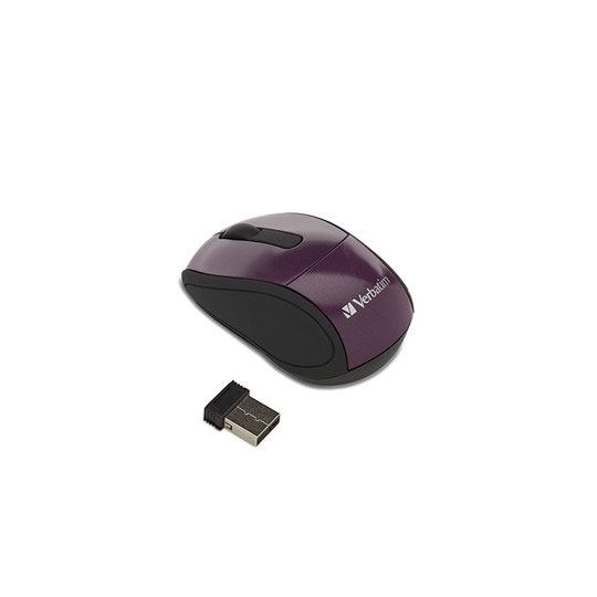 MOUSE MINI INALAMBRICO VERBATIM 97473 CONEXION USB COLOR MORADO