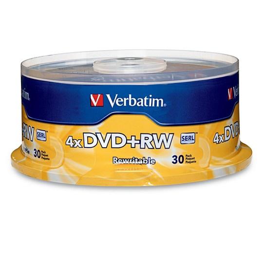 DVD DVD RW VERBATIM VB94834 CAPACIDAD 4.7GB VELOCIDAD DE TRANSFERENCIA 4X CAMPANA DE 50 PIEZAS