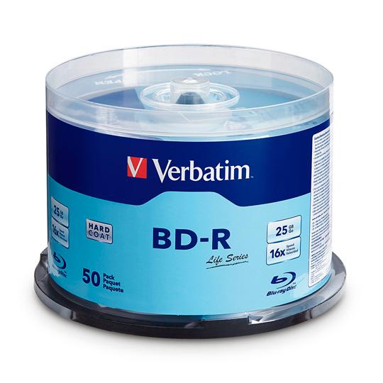 CAMPANA DE 50 PIEZAS BLURAY BD-R VERBATIM VB98172 CAPACIDAD 25GB