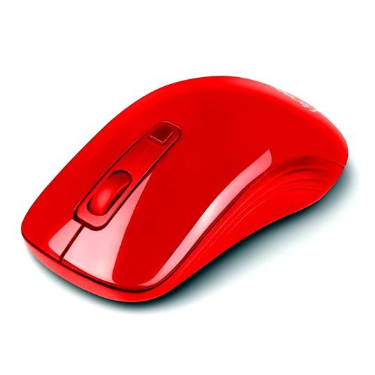 MOUSE ALAMBRICO VORAGO AC-415873-2 CONEXION USB COLOR ROJO