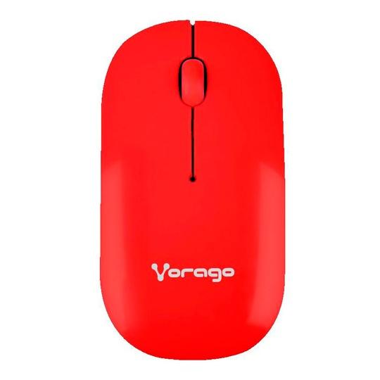 MOUSE INALAMBRICO VORAGO 205 CONEXION USB COLOR ROJO