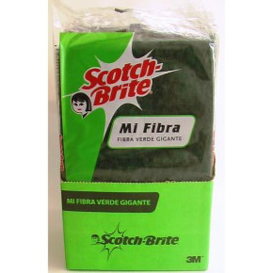 FIBRA VERDE SCOTCH-BRITE GIGANTE DE USO DOMESTICO 1 PZA