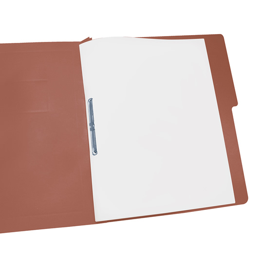 FOLDER DE PAPEL TAMAÑO CARTA ACCO ACCOPRESS P4555 TIPO CARPETA COLOR CAOBA 1 PQ C/10 PZS