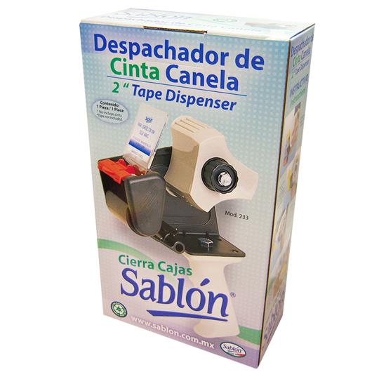 DESPACHADOR PARA CINTA DE EMPAQUE SABLON 233 DE METAL 1 PZA