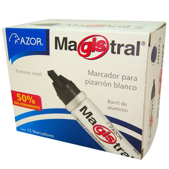 MARCADOR PARA PIZARRON AZOR MAGISTRAL 83012NE COLOR NEGRO 1 PIEZA