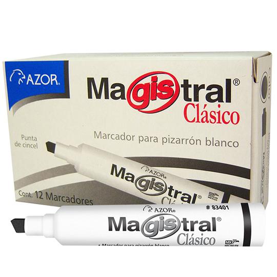 MARCADOR PARA PIZARRON AZOR MAGISTRAL CLASICO 83401 COLOR NEGRO 1 PIEZA