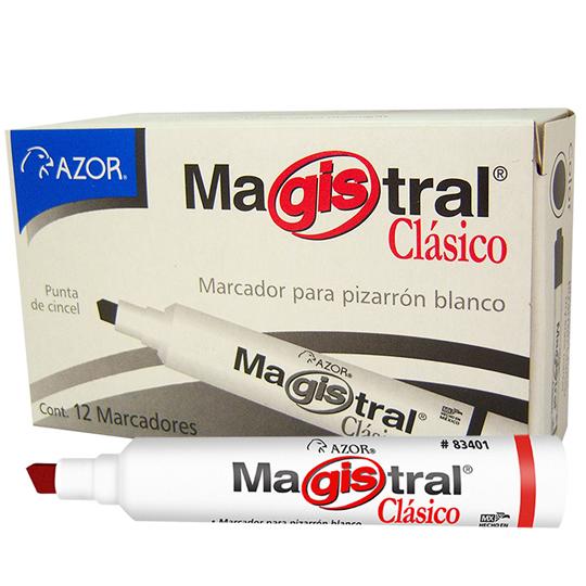 MARCADOR PARA PIZARRON AZOR MAGISTRAL CLASICO 83402 COLOR ROJO 1 PIEZA