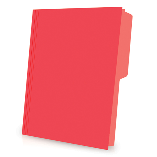 FOLDER DE PAPEL TAMAÑO CARTA TOPS PRODUCTS PENDAFLEX 05012RJ TIPO 1/2 CEJA COLOR ROJO 1 PQ C/50 PZS