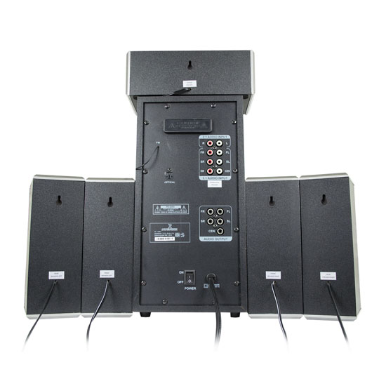 TEATRO EN CASA PERFECT CHOICE PC-116561 CONEXION BLUETOOTH, AUXILIAR, MICRO SD, HMDI COLOR NEGRO