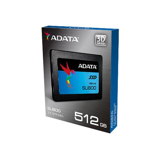UNIDAD DE ESTADO SOLIDO ADATA SU800 CAPACIDAD DE 512 GB FACTOR DE FORMA 2.5