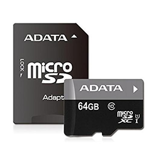 MEMORIA MICRO SD ADATA AUSDX64GUICL10-RA1 DE 64 GB CLASE 10 CON ADAPTADOR