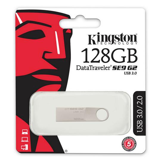 MEMORIA USB 3.0 KINGSTON DTSE9G2 DE 128 GB GRIS