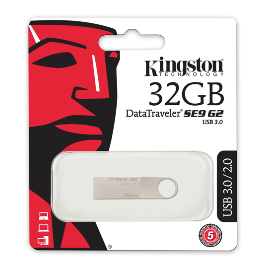 MEMORIA USB 3.0 KINGSTON DTSE9G2 DE 32 GB GRIS