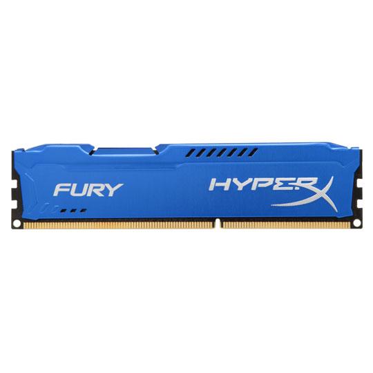 MEMORIA RAM KINGSTON GAMER HYPERX FURY BLUE 4 GB EMBALAJE U-DIMM TECNOLOGIA DDR3 VELOCIDAD 1600 MHZ