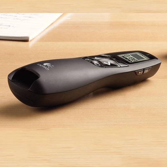 APUNTADOR LASER LOGITECH R800 CONEXIÓN NANO RECEPTOR USB COLOR NEGRO