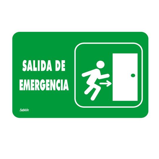LETRERO ACRÍLICO SABLÓN SALIDA DE EMERGENCIA VERDE