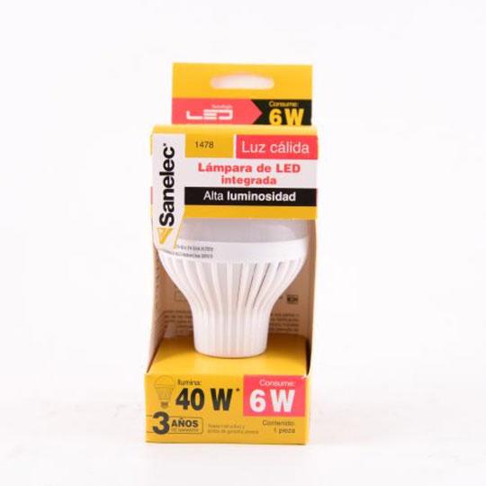 FOCO SANTUL TIPO LED DE PLASTICO 6 WATTS