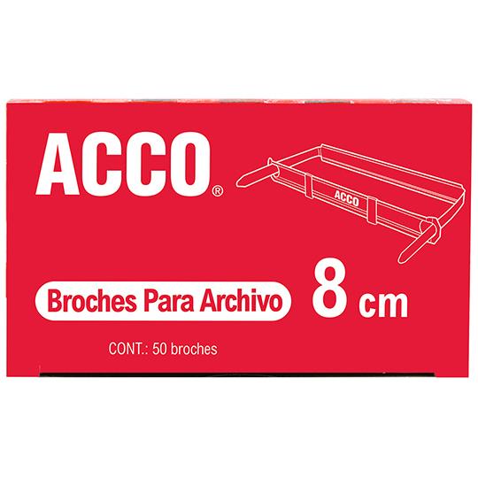 BROCHE DE 8 CM METALICO ACCO P1580 1 CAJA CON 50 PIEZAS