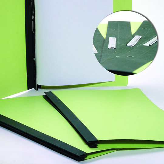 FOLDER DE PAPEL TAMAÑO CARTA ACCO ACCOPRESS P1194 TIPO CARPETA COLOR VERDE CLARO 1 PQ C/10 PZS