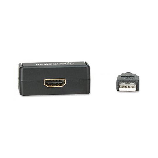 ADAPTADOR MANHATTAN ADAPTADOR USB DE ALTA VELOCIDAD 2.0 A HDMI 151061 USB 2.0
