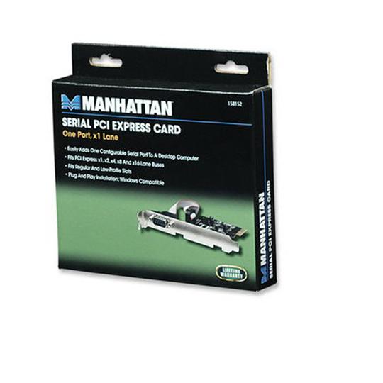 TARJETA DE RED SERIAL MANHATTAN 158152 INTERFAZ DB9 230,400 BPS