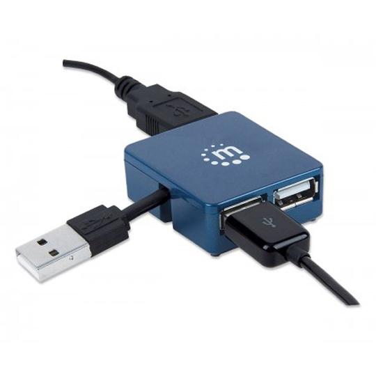 HUB MANHATTAN CON 4 PUERTOS USB 2.0 EN FORMA DE CUADRO 160605