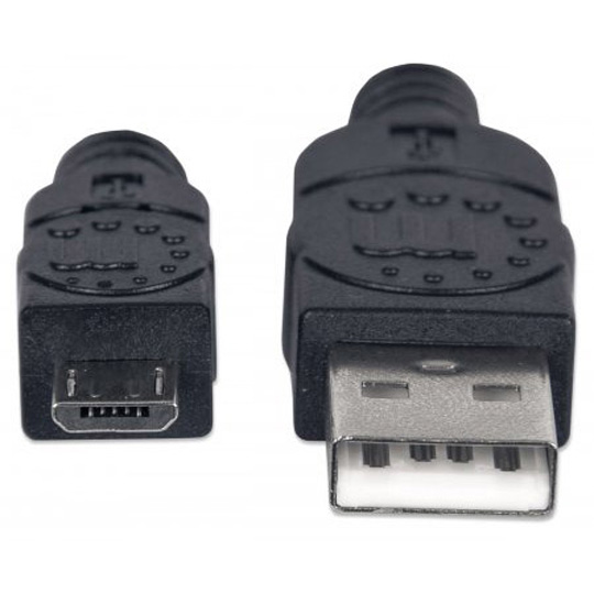 CABLE USB A MACHO A B MACHO MANHATTAN COLOR NEGRO DE  1.8 METROS 307178