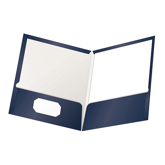 FOLDER DE PAPEL TAMAÑO CARTA TOPS PRODUCTS OXFORD 51743 TIPO PLASTIFICADO COLOR AZUL MARINO 1 PQ C/25 PZS
