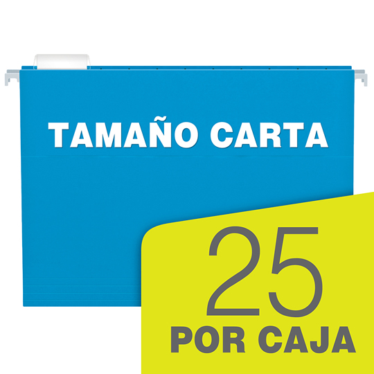 FOLDER DE PAPEL TAMAÑO CARTA TOPS PRODUCTS PENDAFLEX 92502 TIPO COLGANTE COLOR AZUL 1 PQ C/25 PZS