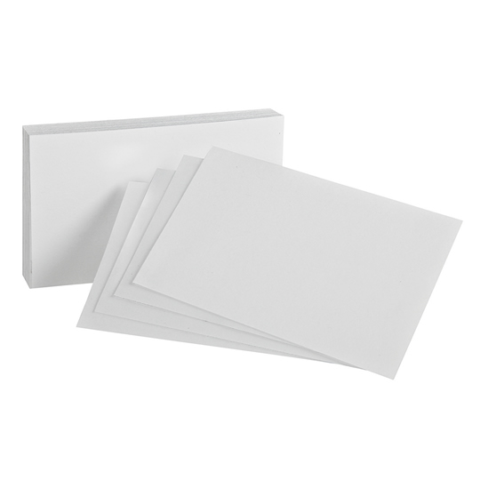 TARJETERO ESSELTE DE PAPEL LENOX COLOR BLANCO TAMAÑO 3X5