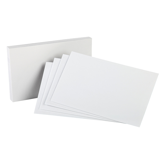 TARJETERO ESSELTE DE PAPEL LENOX COLOR BLANCO TAMAÑO 5X8