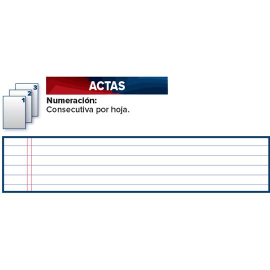 LIBRO FLORETE DE ACTAS ESTRELLA FORMA FRANCESA CON 96 HOJAS 1 PIEZA