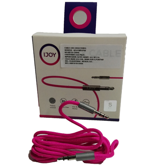 CABLE DE AUDIO 3.5 MM A MACHO A B MACHO IJOY FAB5PNK 1 METRO -