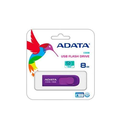 MEMORIA USB 2.0 ADATA C008 DE 8 GB MORADO