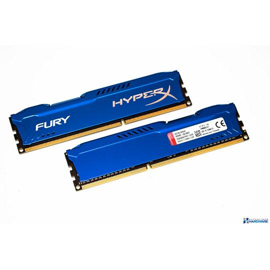MEMORIA RAM KINGSTON GAMER HYPERX FURY BLUE 8 GB EMBALAJE U-DIMM TECNOLOGIA DDR3 VELOCIDAD 1866 MHZ