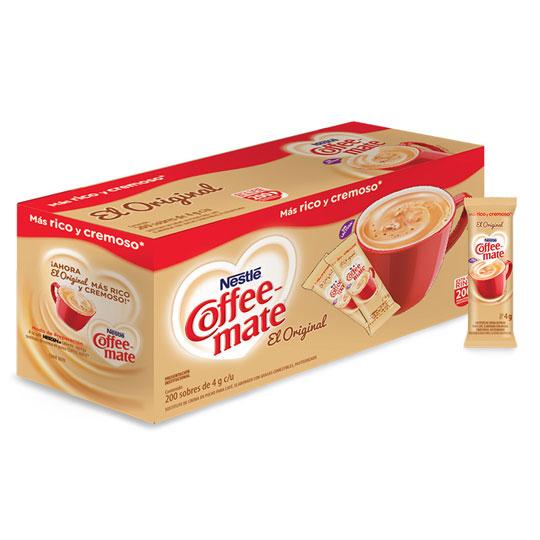 SUSTITUTO DE CREMA COFFEE MATE CONTENIDO NETO 200 SOBRES